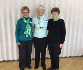 Joyce Decosta, Betty Cotton and Margaret Greenway