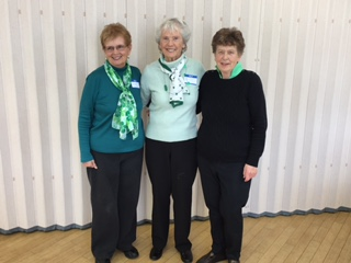 Joyce Decosta, Betty Cotton and Margaret Greenway