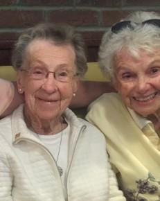 Rosemary Farrell and Mary Hall